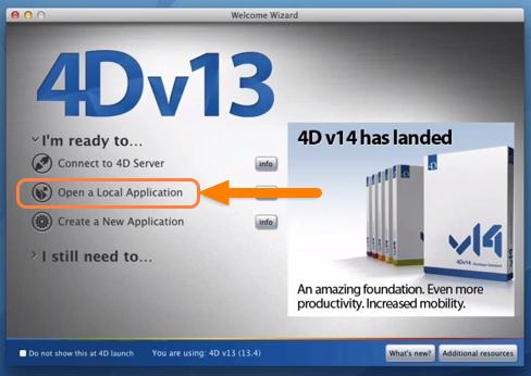 Run 4D Application