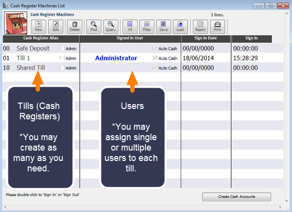 Assigning Users to a Till