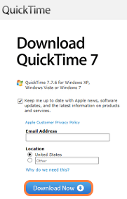 Download the QuickTime Installer