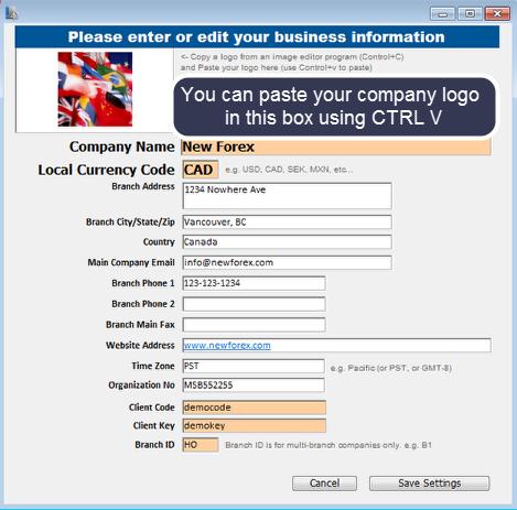 Setup the company profile