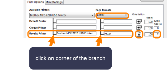 Setting Up the Printer for Receipt Printing