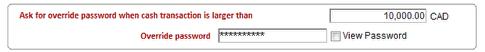 Override password