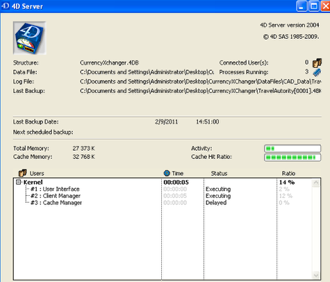 Server Process Window