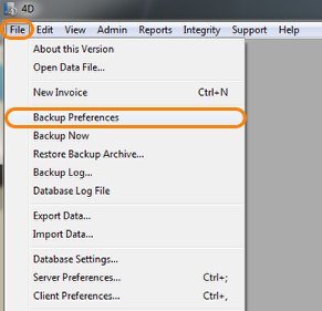 Open Your Backup Preferences Panel
