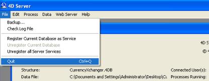 Quit 4D Server