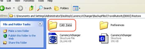What's inside the Restored folder?