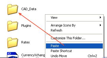 Paste the data folder