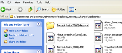 The Restored Folder