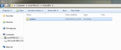 Create 'Archive' Sub Folder