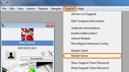 Restart the Server