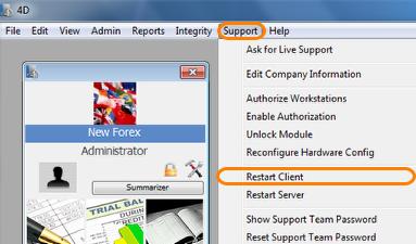 Restart The Client Server