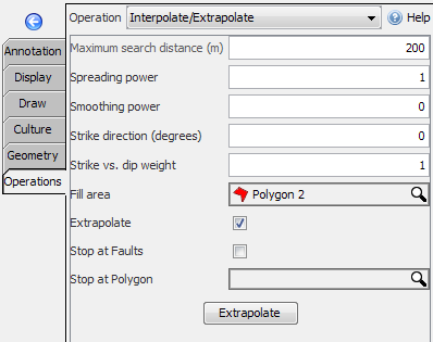 Interpolate/extrapolate