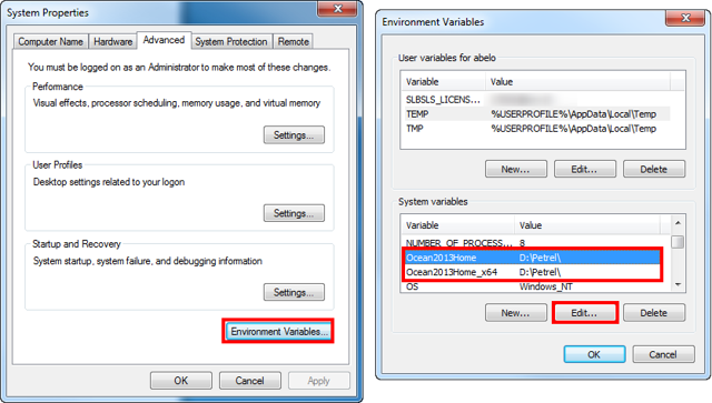 Changing the environment variable