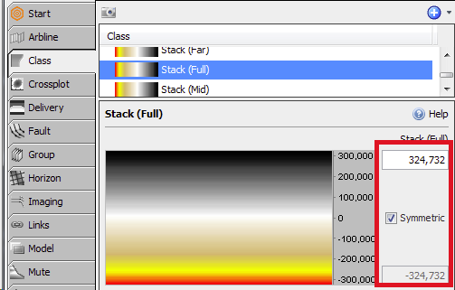 1 - The min/max values of the Class colourbar