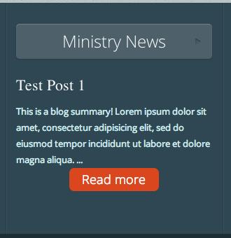 Ministry News