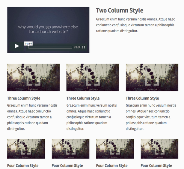 Content Column Layouts