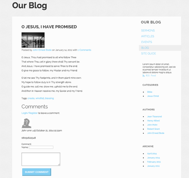 Blog Detail View