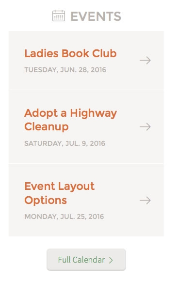 Sidebar Monklet - Featured Events