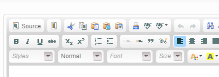 To paste your content from Microsoft Word, click on the Word icon at the top of the editor.