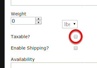Scroll down and check the box next to Taxable?