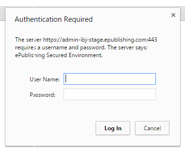First in a pop-up that asks for your username and password, which will be different from your regular log-in.