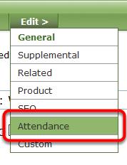 Click Attendance under Edit.