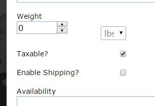 If shipping is required (as it would for a print copy), click the box next to Enable Shipping. Your e-commerce site will then ask for a shipping address.