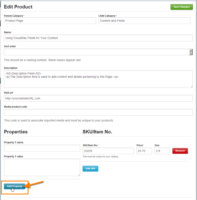 Enable the Property Fields