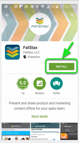 "Search the Store for ""FatStax"" and download the free App."