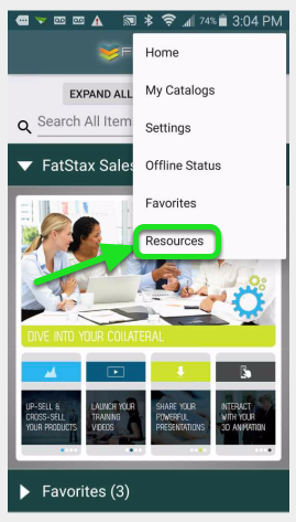 """Tap """"Resources"""""""