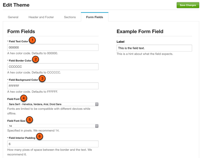 Customize form fields