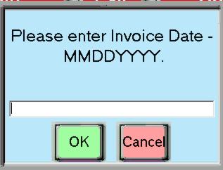 Enter Invoice Date
