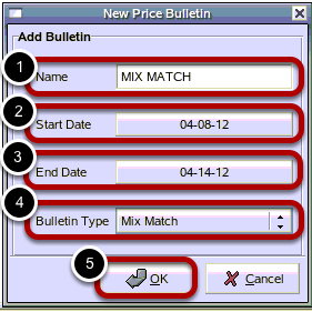 New Price Bulletin