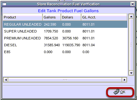 Store Reconciliation Fuel Verification