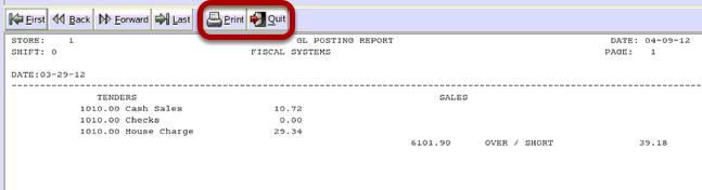 GL Posting Report
