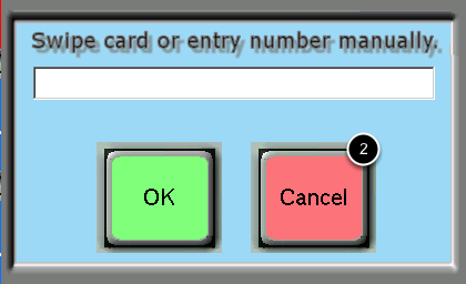 Swipe Card or Manually Enter Card Number