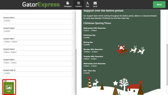 GatorExpress - Image Content Fields