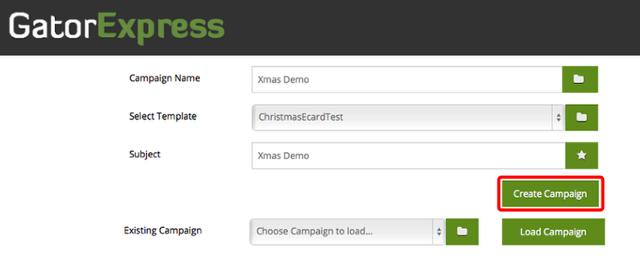 GatorExpress - Campaign Setup