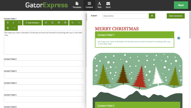 GatorExpress - Edit Content Fields