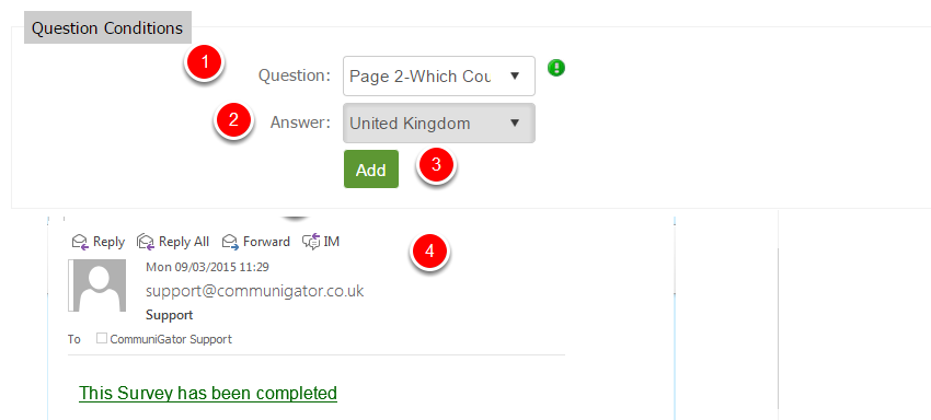 Question Conditions Notifications