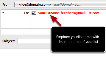 You can retrieve the voting results at any time, by sending in a blank email to yourlistname-feedback@mail-list.com