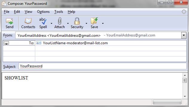 The following is an example of how your email may look like: