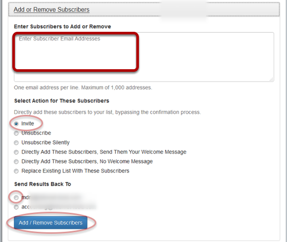 "Click on ""Add or Remove Subscribers"", fill out the details and click ""Add/Remove Subscribers"":"