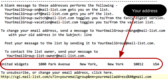 Change the mailing list by saving your settings, and approve the followup email.