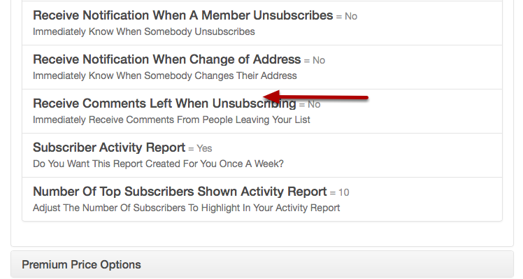 You can also control how many subscribers are listed on some of the reports