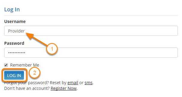 Log In to the Kura Provider Portal