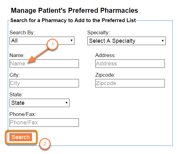 Search for a Pharmacy