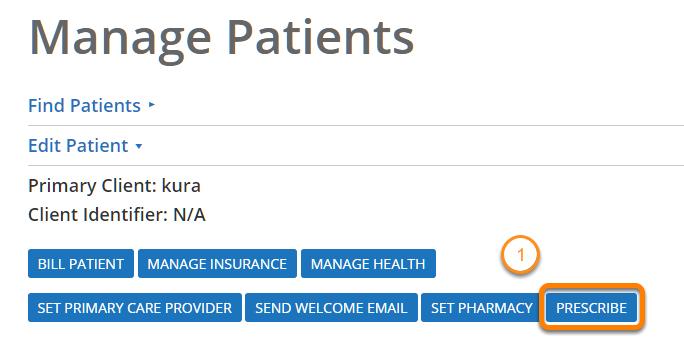 Go to Prescribe Page