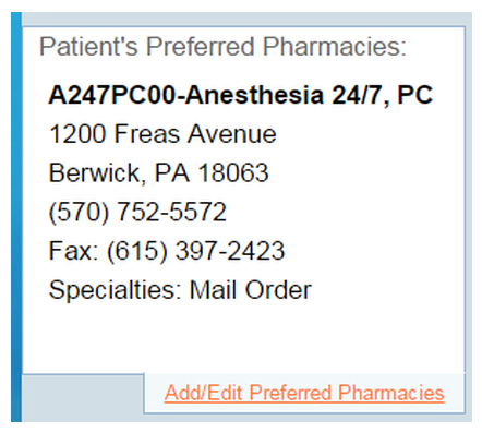 Pharmacy will be Added