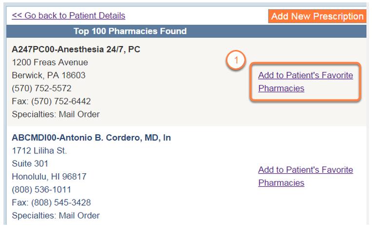 Select a Pharmacy